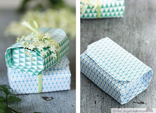 Origami-Schachteln – mit Muster-freebie