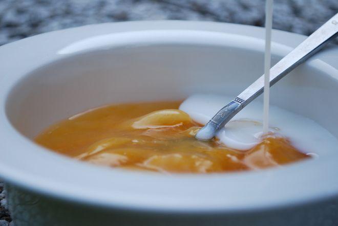 Idag blev det kräm till lunch vilket är rätt ovanligt här hemma. Var nog denna värme som gjorde mig sugen. Kokade en enkel Aprikoskräm av hela torkade aprikoser. Godast är det att servera den lite …