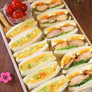 キッズが大好き2種のサンドウィッチピクニック弁当☆+by+ぱおさん+|+レシピブログ+-+料理ブログのレシピ満載! +今日はピクニックサンドウィッチ弁当~!!昨日は幼稚園のお友達とお弁当を持って公園でピクニック~~!!の予定だったのですが・・あいにくの雨。お友達のおうちで持ち寄りパーティーとなりました~(^^♪子供...