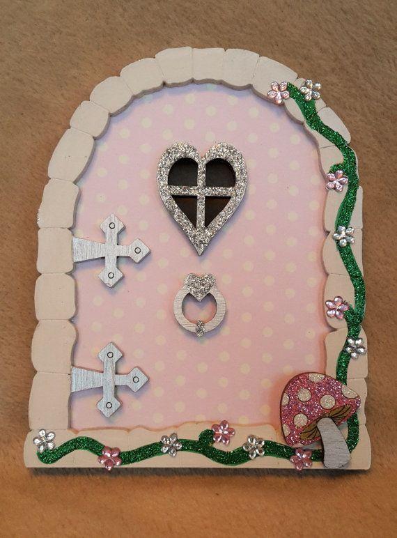 Fairy Door  Wooden Secret Garden Glitter Fairy Door Elf