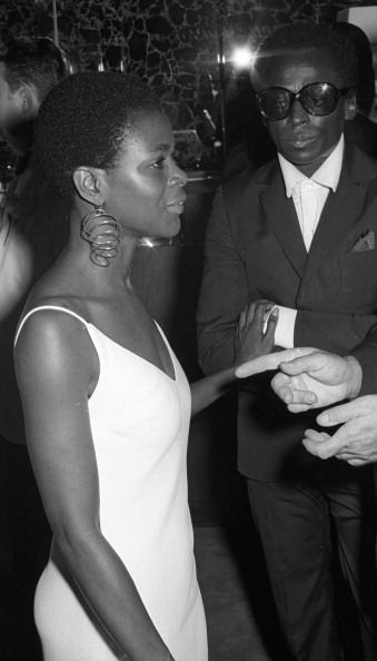 Cicely Tyson and Miles Davis in August 1968 attending the premiere of 'The Heart Is A Lonely Hunter' in New York City. Tyson and Davis were not a couple at the time - they actually married in 1981. Photo by Ron Galella, Ltd./WireImage.