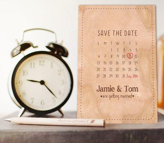 Wooden+SavetheDate+Calendar+Card++Rustic++wedding+by+COZYWOODshop,+$8.50