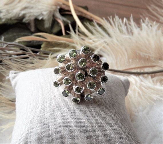Sale.......One of a Kind Sterling Silver and Peridot Ring