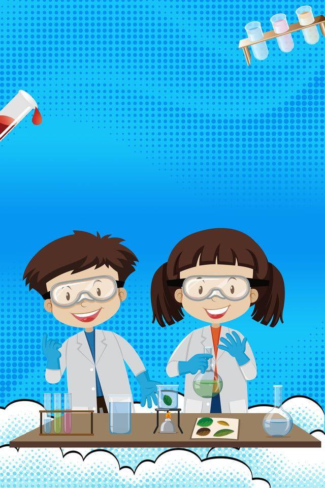 Cartoon Fresh Science Experiment Background Kartun Eksperimen Sains Animasi