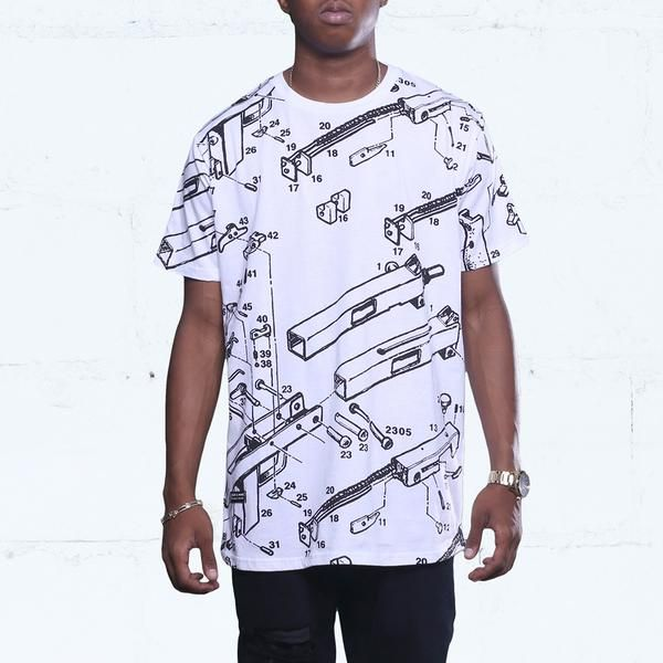 Deconstructed Mac Curved Hem Tee White