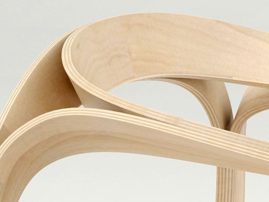 Triple Plywood Chair By Timothy Schreiber Really Love The Corner Junction  Detail (or More Like The Fluid Avoidance Of One) Plooop Chair By Timothy  Schreibe ...