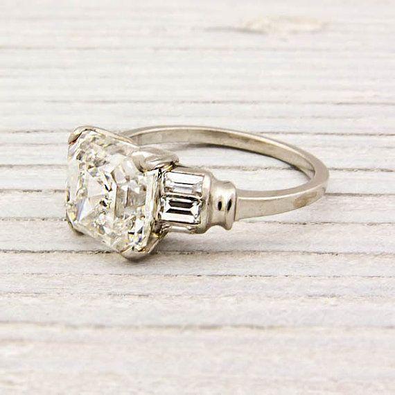 Erstwhile JewelryCut Diamonds, Antique Engagement Rings, Asscher Cut, Diamonds Rings, Deco Engagement, Antiques Engagement, Diamonds Art, Art Deco, Carat Asscher