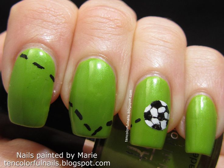 Ten Colorful Nails: World Cup Soccer Ball Nail Art