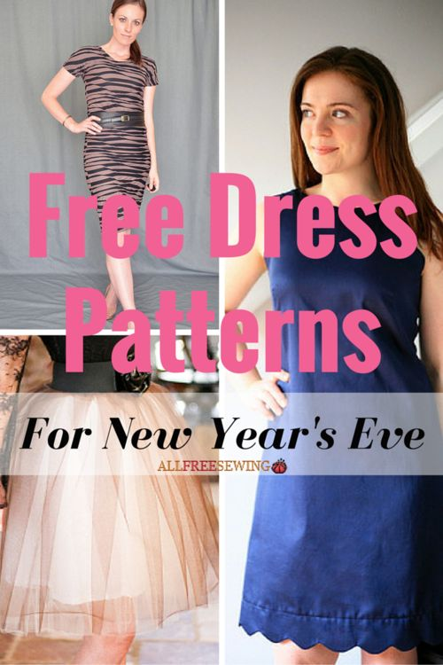 The New Year is all about new opportunities and new beginnings, so of course, that means a new dress! Ring in the holiday and look darn good while you do it with these stunning Free Dress Patterns for New Year's Eve.