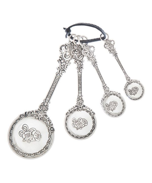 Look at this Victorian Measuring Spoon Set on #zulily today!