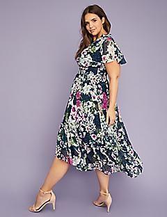 v neck floral fit flare maxi dress alternate image dresses