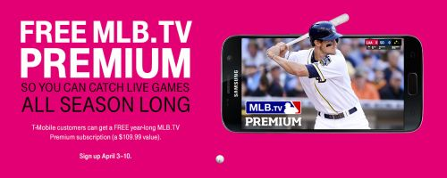 MLB.TV Premium Subscription for FREE for T-Mobile Customers