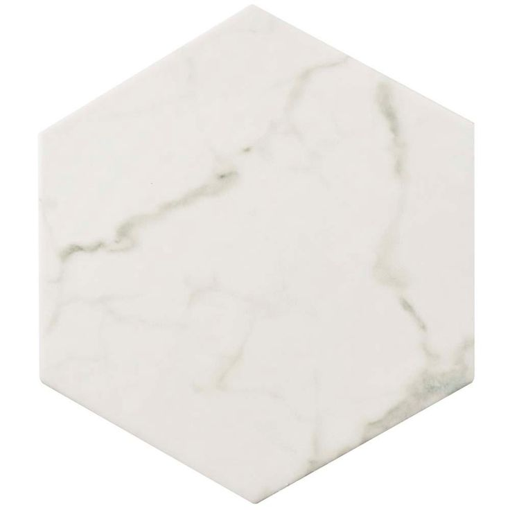 Merola Tile Carrara Hexagon 7 in. x 8 in. Porcelain Floor and Wall Tile (11 sq. ft. / case)-FEQCRX - The Home Depot