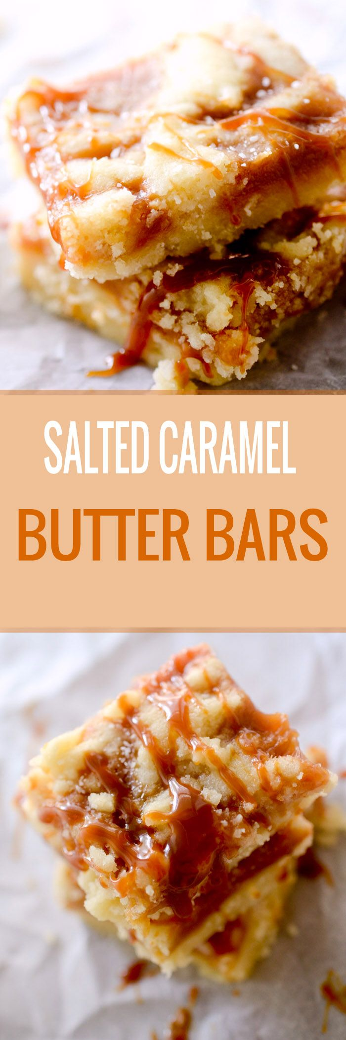 Salted Caramel Butter Bars - Over the top salted caramel dessert.