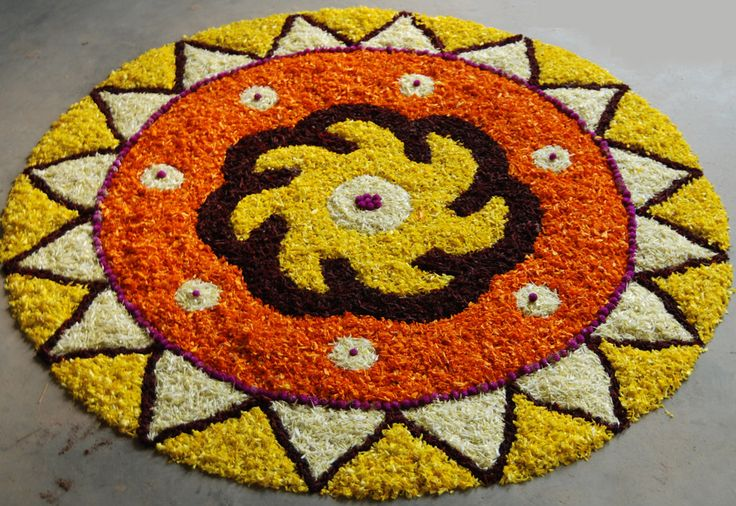 Extravagant and grand onam pookam design.