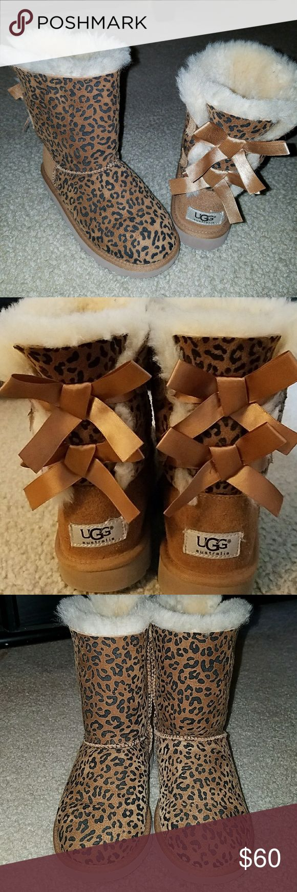 Authentic Cheetah Print Bailey Bow Uggs Authentic Cheetah Print Bailey Bow Uggs. Excellent Condition. UGG Shoes Boots