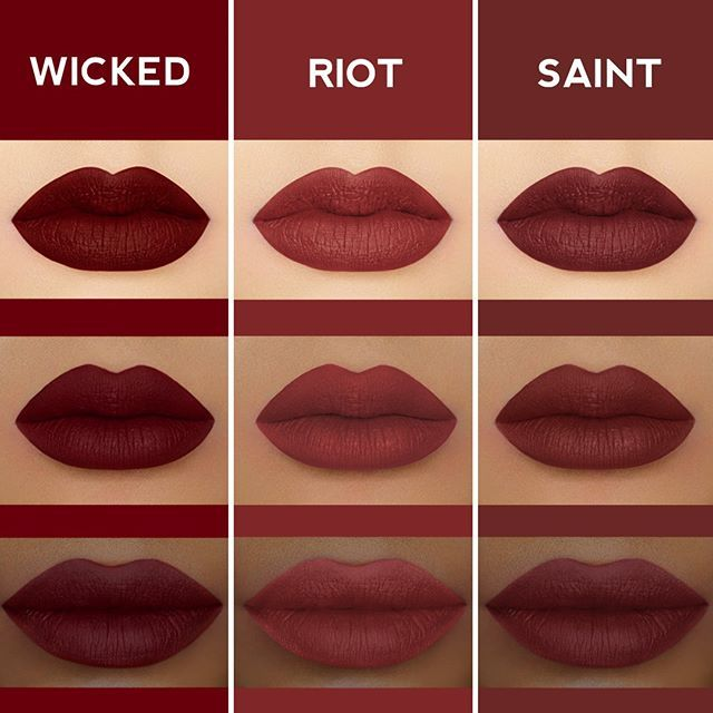 Which is your fave deep red? Wicked, Riot, Saint   Shop #Velvetines on limecrime.com #limecrime