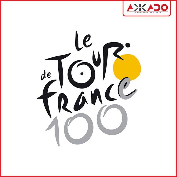 #TourdeFrance #logo itself communicates its message! #Akkado #ConnectingtheDots #LogoStory
