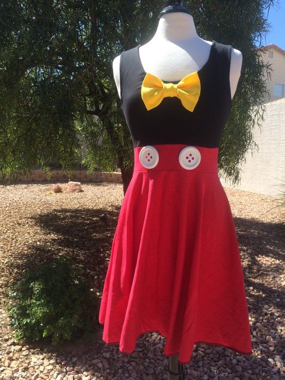Mickey Mouse Character Inspired Disney Dress Red by TheGypsyGeek