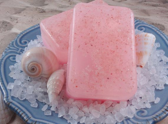 Soap Tickle Me Pink Grapefruit Sea Salt Soap With by SoapGarden, $5.50