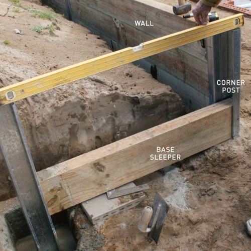 step three how to install a retaining wall | Backyard Ideas