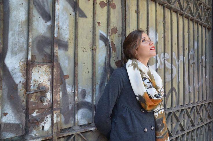 Audrey scarf by Marina Finzi Creazioni  Fall 2015 collection  #MadeinItaly