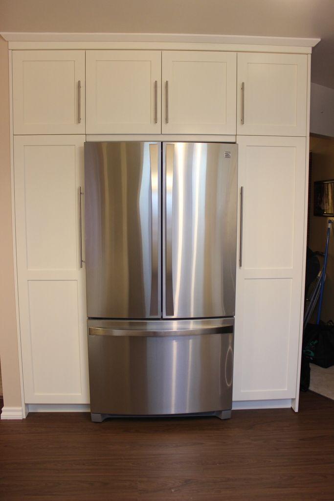 Fridge Amp Wrap Around Pantry Redo Kitchen Cabinets
