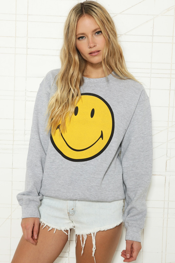 Smiley Sweatshirt at Urban Outfitters