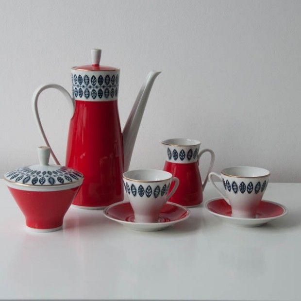 Porcelanowy serwis kawowy dla 6 osób.  Stan idealny vintage.  Odbiór osobisty na Żoliborzu. #vintage #vintagefinds #vintageshop #forsale #design #midcentury #midcenturymodern #porcelain #coffee #set