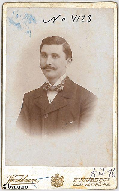 """I. Petrescu, București, 1898. Imagine din colecțiile Bibliotecii """"V.A. Urechia"""" Galați."""
