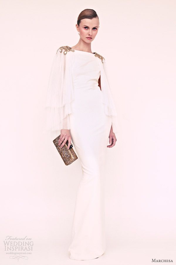 Marchesa resort 2013 white long sleeve gown. LOVE