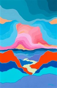 Peace River Valley by Ted Harrison
