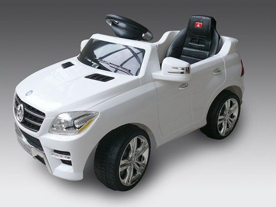 baby mercedes benz ml 350 white ride on kid toy car 6v w remote control