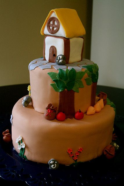 the two things i like!!!   cake and one of my favorite games,   Animal Crosing: City Folk