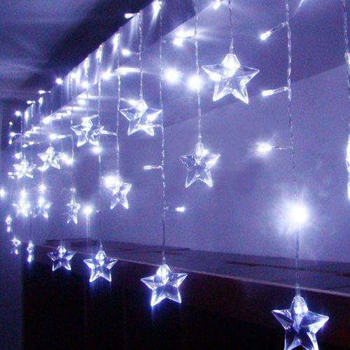 2M 1 6M LED Stars Outdoor Party Xmas Christmas String Fairy Curtain Light   eBay