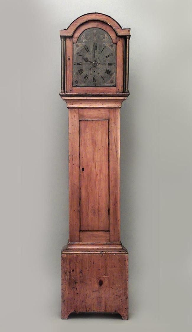 American Country Clock Mechanical Grandfather Clock Pine