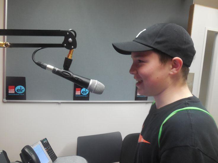 Rio recording his radio play