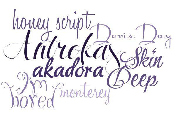 Modern Calligraphy Fonts ~~ {7 Free fonts w/ links} | .Fonts ...