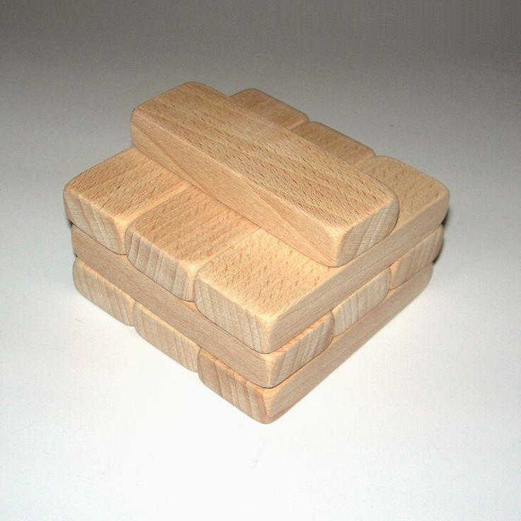Dřevěné kostky na hraní 7,8x2,6x1,2