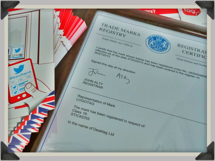 Yay, our Trademark ™ has arrived so we are now ® #ip #trademark #business #logotag