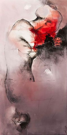 "Je suis bien,  Acrylic on canvas,  48"" X 24"",  Artist: Virginie Bocaert"