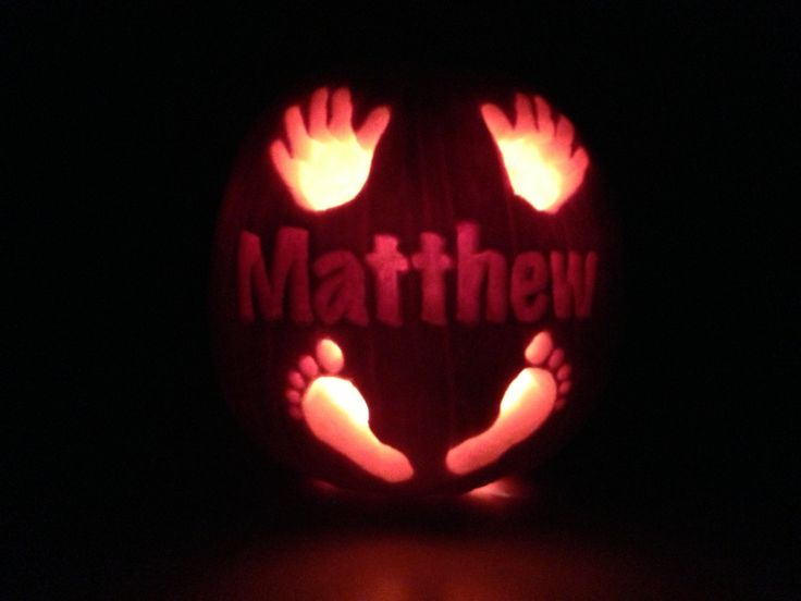 I love pumpkin carving - baby's 1st pumpkin! #myfirstpumpkin