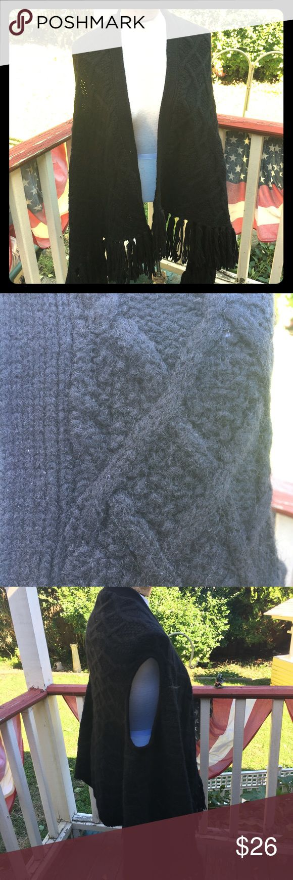 Gorgeous DKNY cape Wool blend. Very warm and cozy! Never used DKNY Sweaters Shrugs & Ponchos