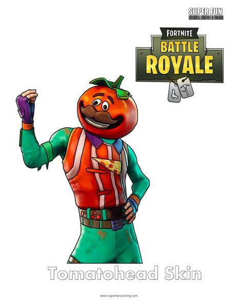 Fortnite Tomatohead Skin Coloring Page Super Fun