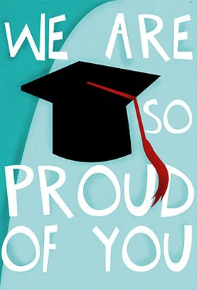 """Were so proud of you"" printable card. Customize, add text and photos. print for free!"