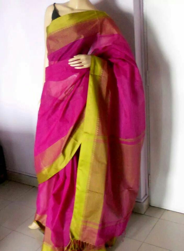 Pure cotton Bengal handloom saree from Shayeri...... loved the color combination