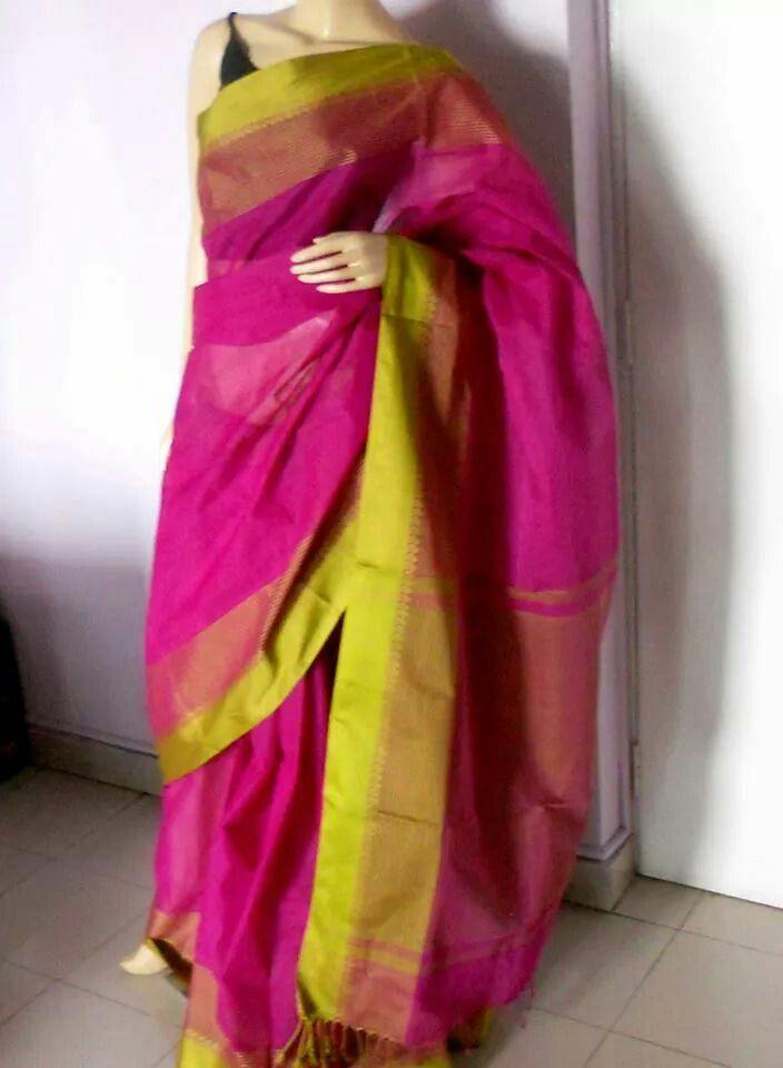 Pure cotton Bengal handloom saree from Shayeri