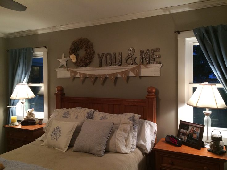 You me above the bed decor our finished projects for Creative master bedroom ideas