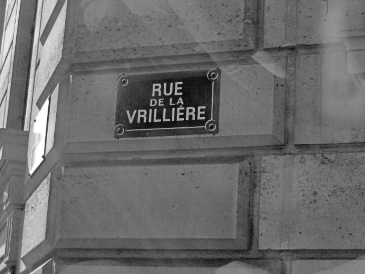 Paris - plaque de rue - rue de la vrillère