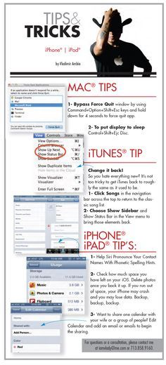 Tips + tricks for Apple iPads/iPhones/Macs
